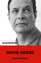 David Gedge - Sleevenotes